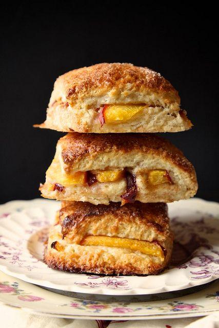 peach cobbler scones...