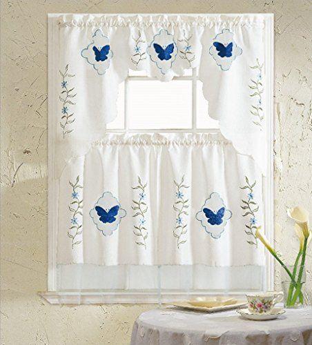 Blauen Und Weißen Küche Vorhänge Überprüfen Sie mehr unter