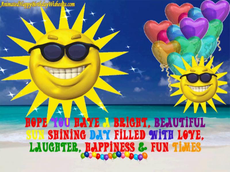Bright Sunny Day Happy Birthday Wishes in 2020 Happy