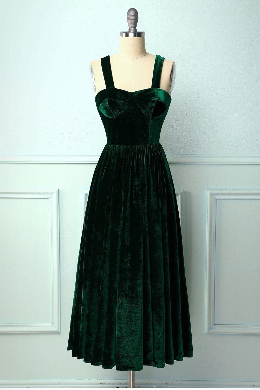 Dark green velvet dress in 2020 green velvet dress dark