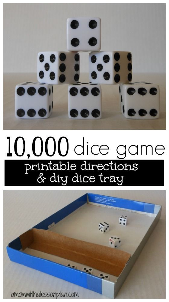 10,000 Dice Game Rules and Tray | Awesome Pins | Pinterest | Awesome ...