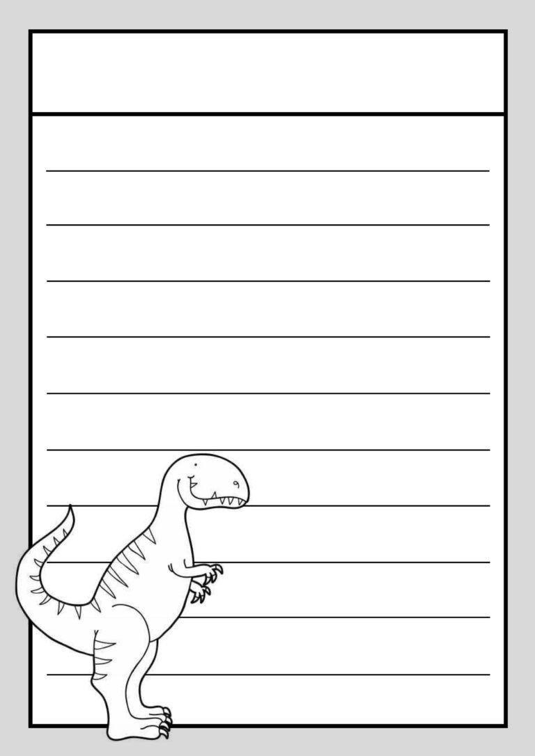 Thema Dino S Klas Van Juf Linda In 2020 Thema Schrijfpapier Kleurplaten
