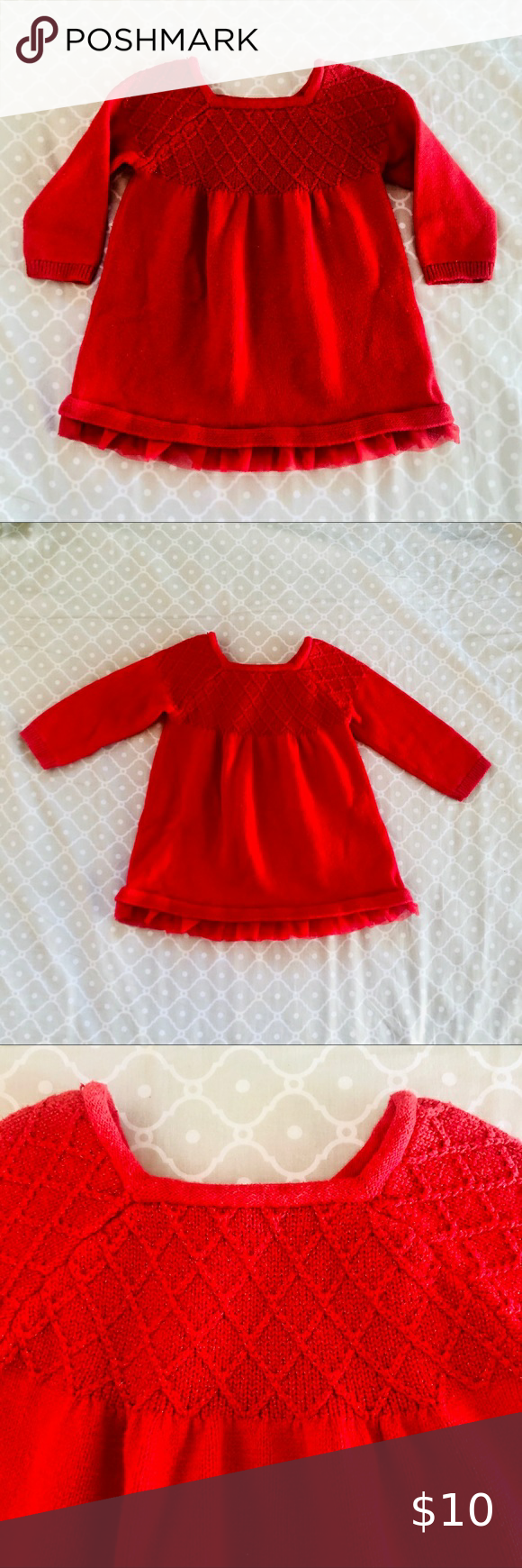 3 For 20 Baby Girl Red Cotton Sweater Dress Cotton Sweater Dress Girls Long Sleeve Dresses Sweater Dress [ 1740 x 580 Pixel ]