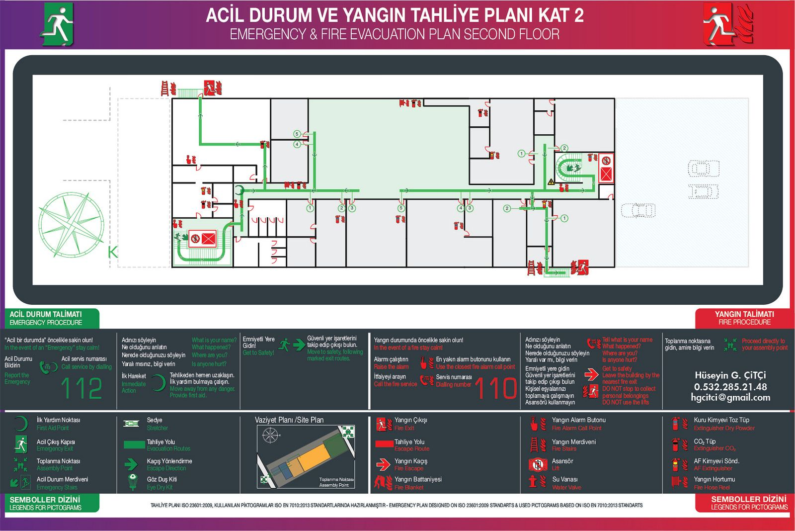 Acil Durum Plan Yangn Tahliye Plan Emergency Evacuation
