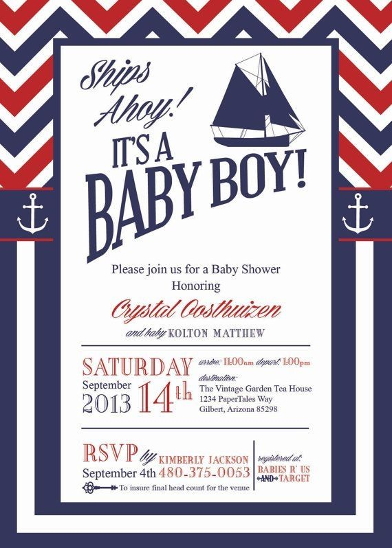 Nautical Baby Shower Invitations. Too Cute!