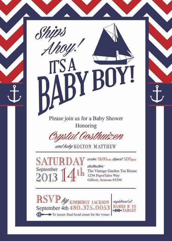 Nautical Baby Shower Invitations Too