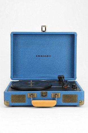 Crosley Cruiser Turntable UK Plug in Blue