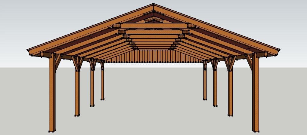 carport 6 x 7 meter mit satteldach aus holz zum selber bauen bauanleitungen baupl ne. Black Bedroom Furniture Sets. Home Design Ideas