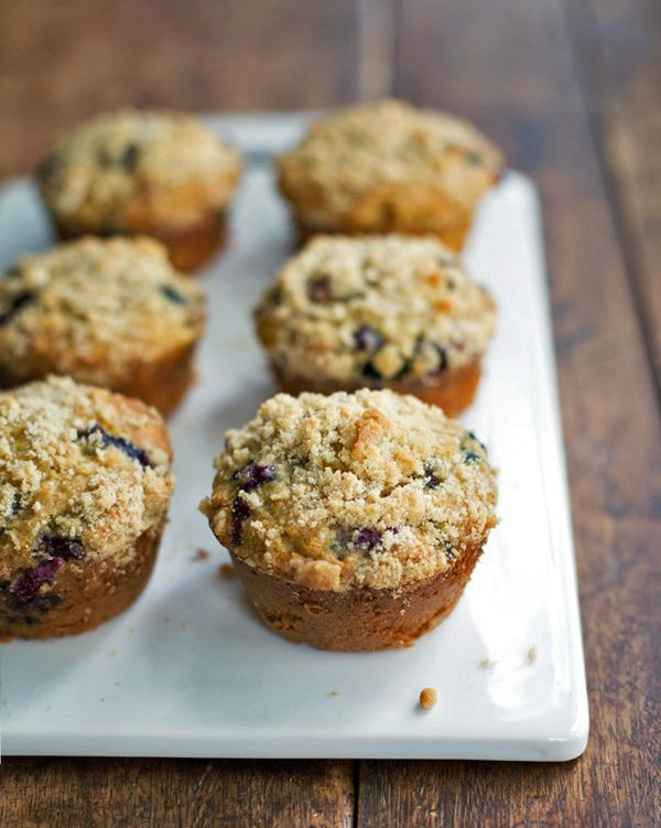 Oatmeal Flax Blueberry Muffins recipe. Delicious kids snack!