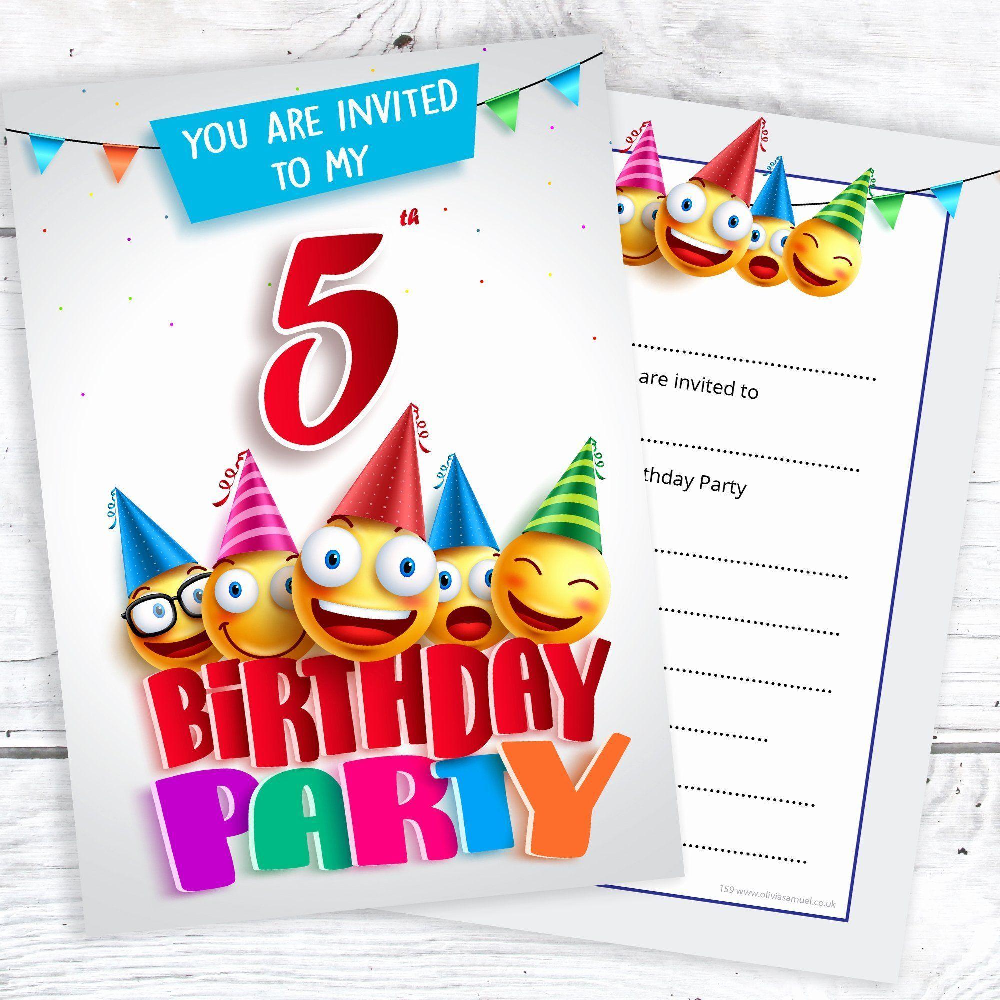 5th Birthday Invitation Wording Inspirational 5th Birthday Party Invites Emo Minion Birthday Invitations Monster Birthday Invitations Emoji Birthday Party