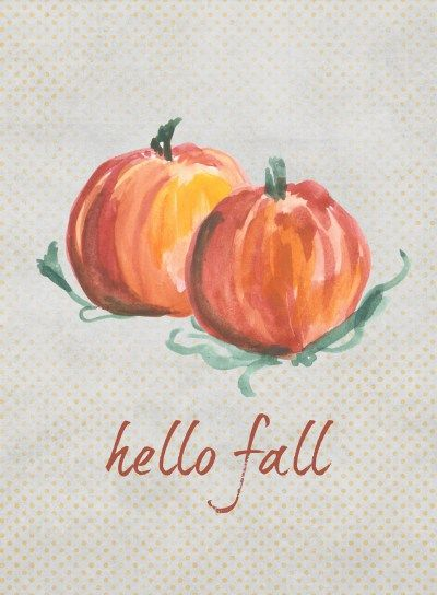 Hello Fall - Free Printable #hellofall