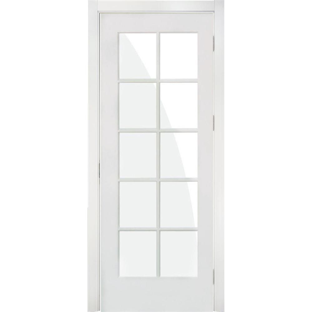 Krosswood Doors 32 In X 80 In Shaker 10 Lite Primed Right Hand Low E Glass Mdf Wood Clear Composite Single Prehung Interior Door Kw Sh420 2868 Rh The Home D Prehung Interior Doors Doors Home