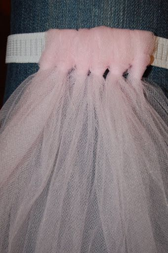 45747f1119 No-Sew Tutu Tutorial -   Only took 10 yards of tulle for 32 inches (low  rise skirt) of elastic.   To make this even faster
