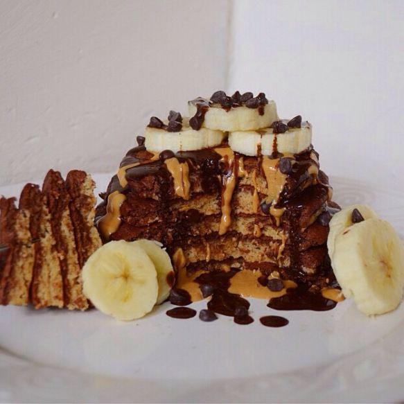 Chocolate pancakes.