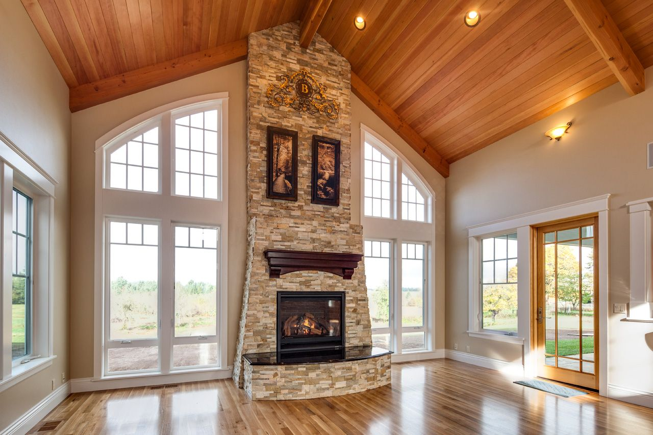 House plan photo nottingham 30 965 living room house - Vaulted ceiling designs for homes ...