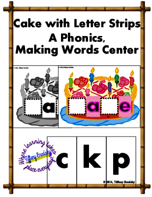 Build a Word Cake is a Long A phonics game with the aCe spelling