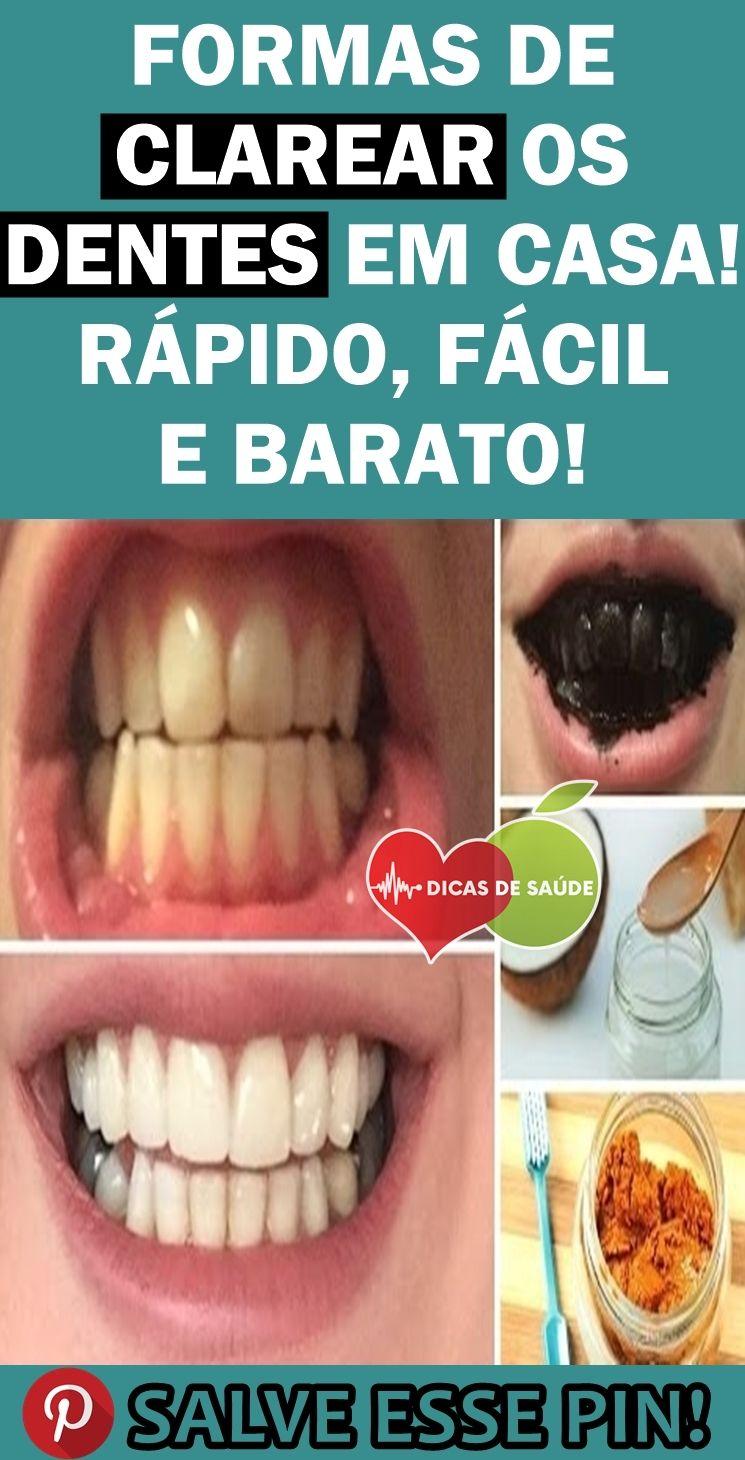 As 4 Receitas Naturais Para Clarear Os Dentes Em Casa Remedios