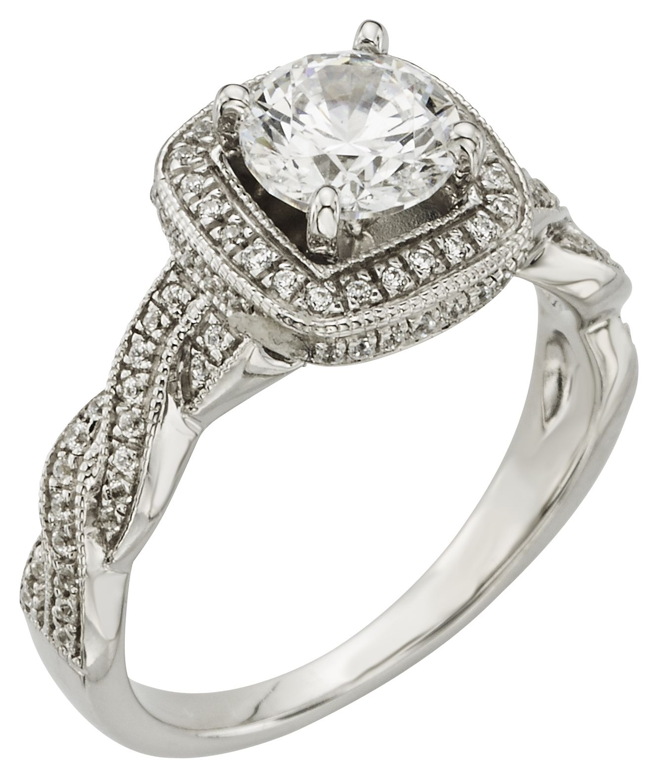 Braided band detailing... MercuryRing diamonds