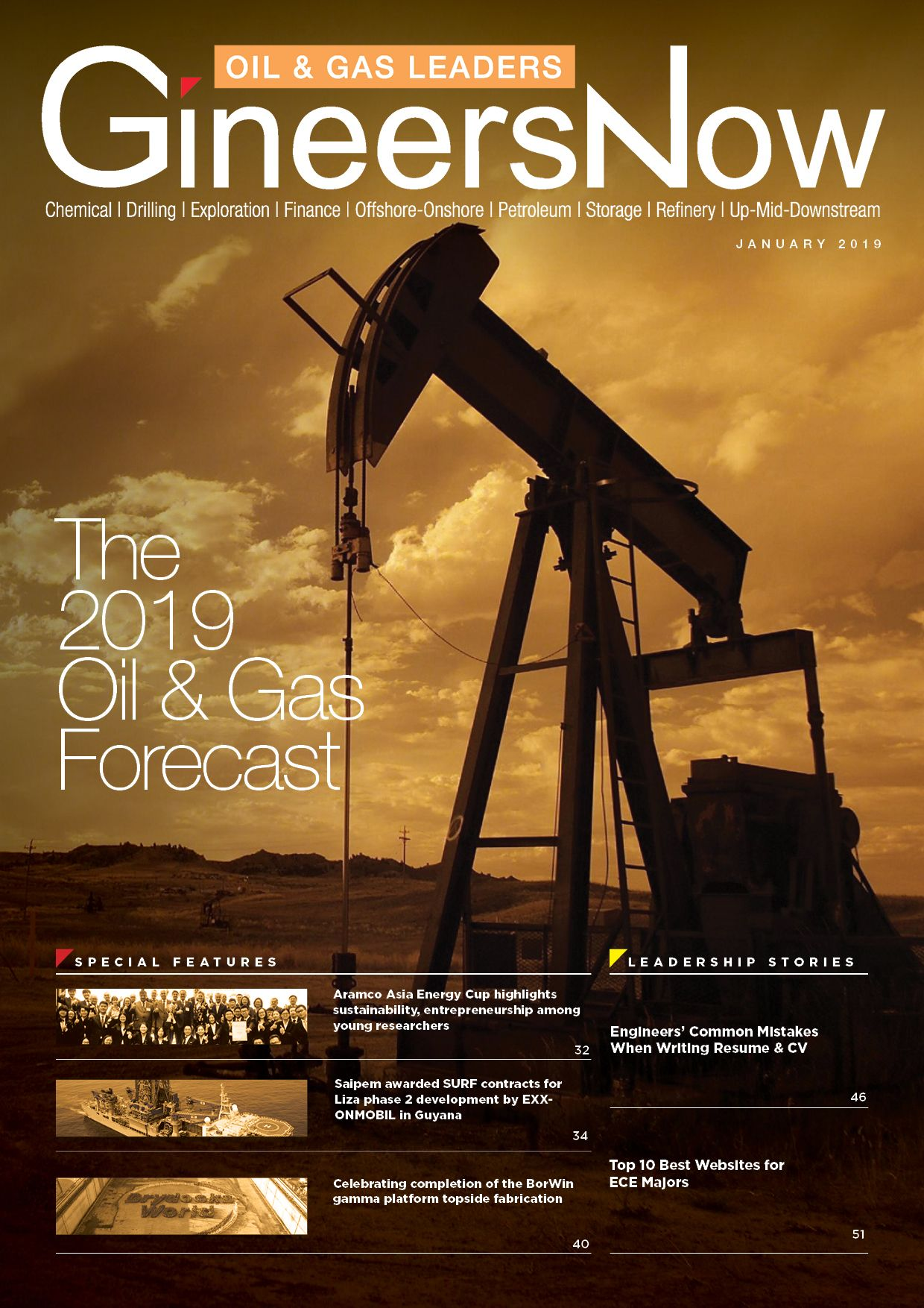 2019 Energy, Chemicals, Oil and Gas Forecast