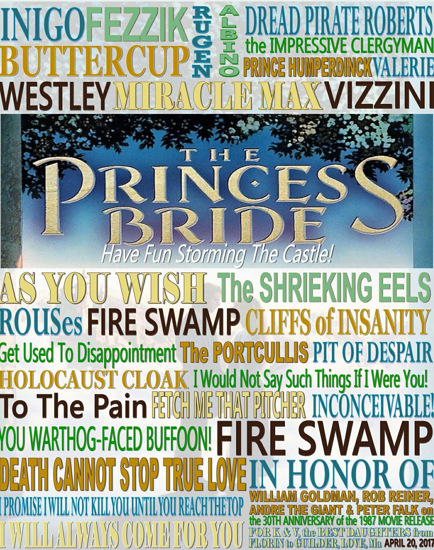the princess bride 16x20 board my poster board art pinterest