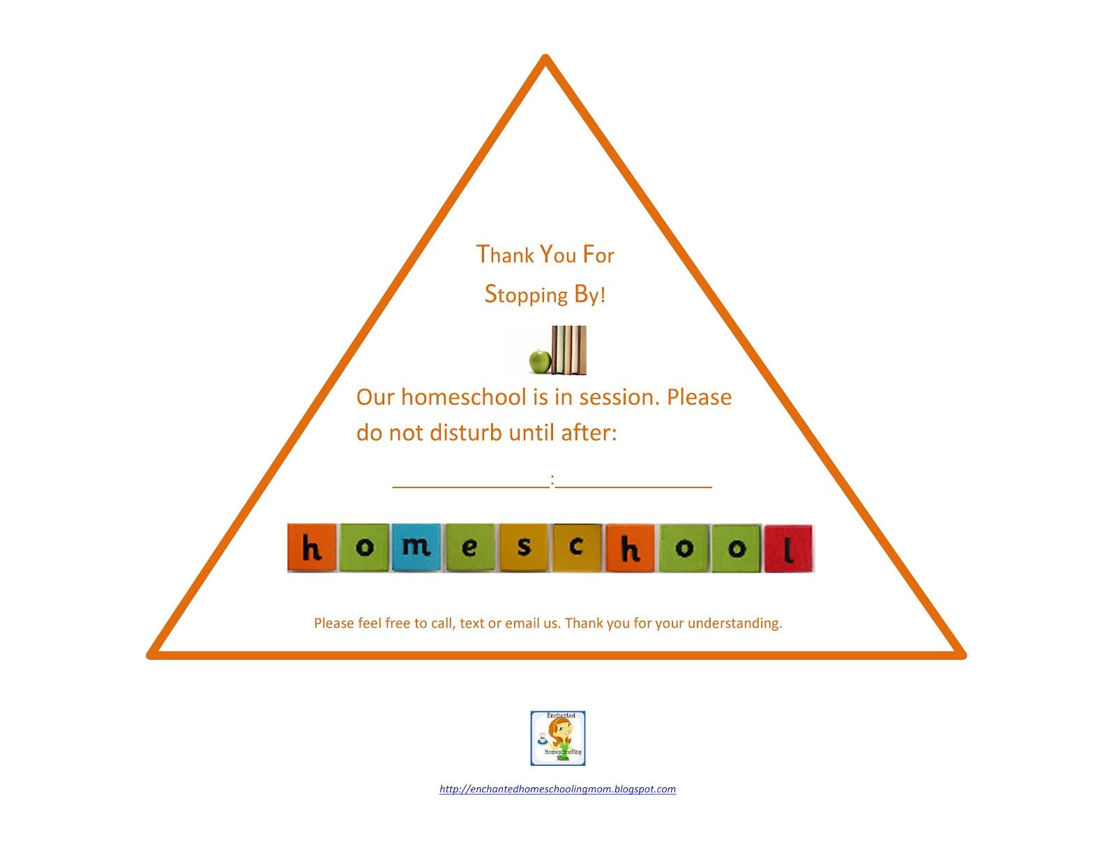 Printable Do Not Disturb Homeschooling In Session Sign