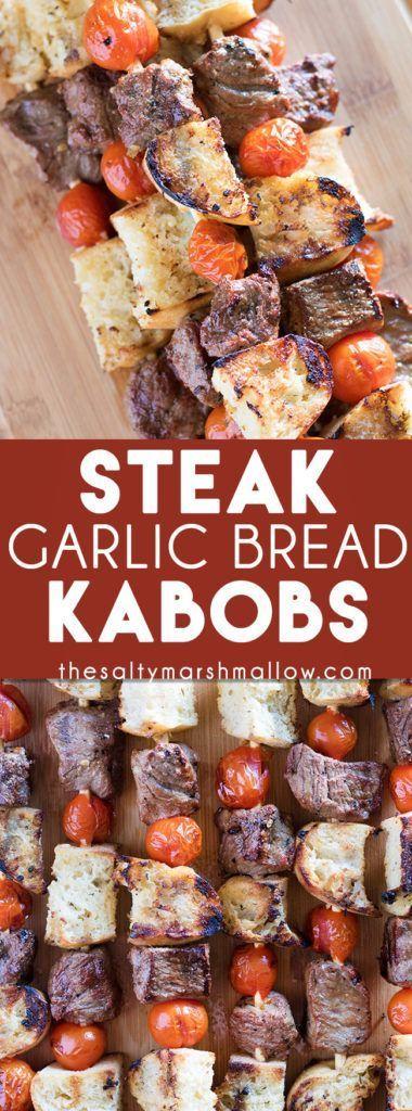 Steak & Garlic Bread Kabobs images