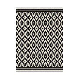 tapis losange noir et blanc 120 x 170 cm d co home. Black Bedroom Furniture Sets. Home Design Ideas