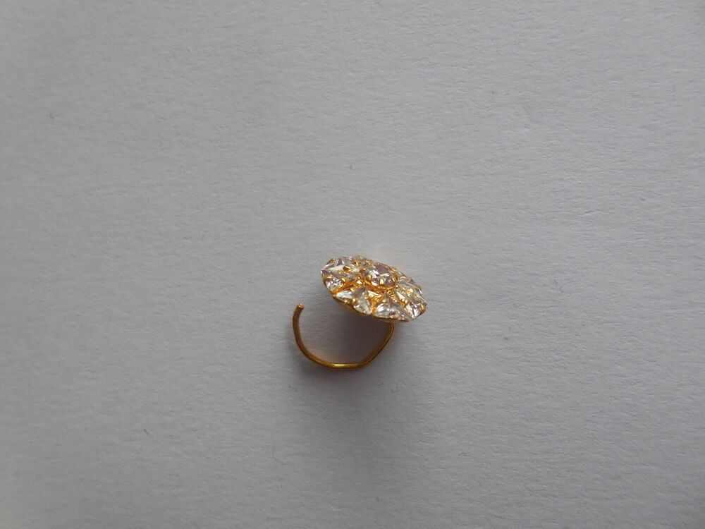 Crystal Nose Stud Cork Nose Pin Indian Wedding Jewelry Bridal Ring