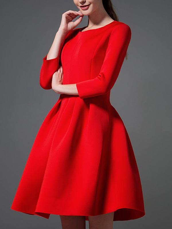 Doresuwe.com SUPPLIES 欧米セレブ愛用新品 2015秋 大物ファッション気質スペース・コットンボンボンワンピース 新作ドレス