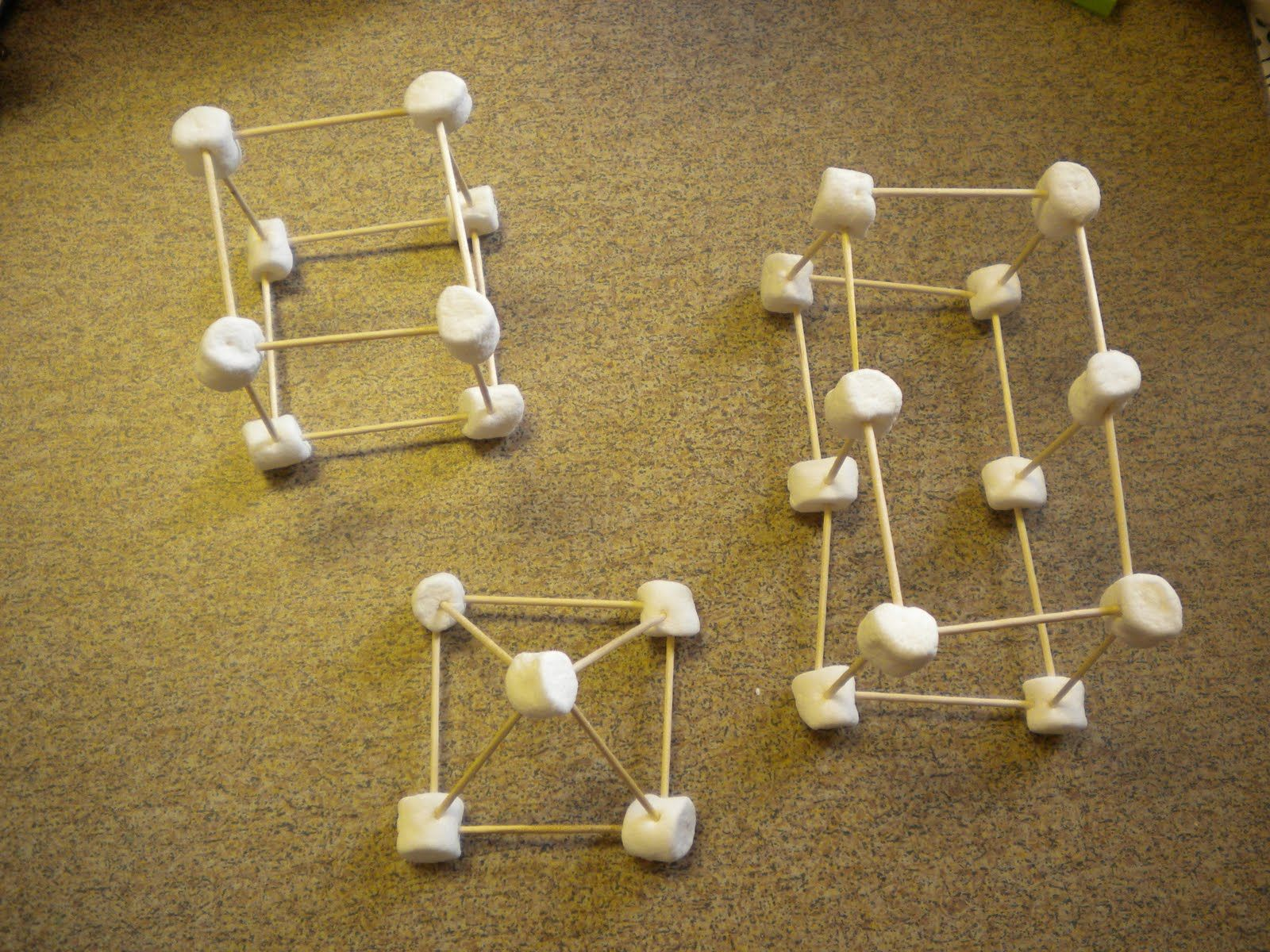 3d Shapes With Marshmallows And Toothpicks Simple D