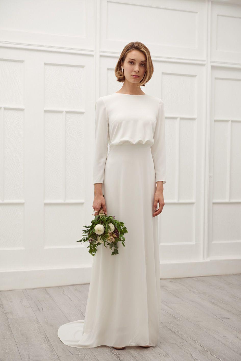 Bryllupskjole Wedding Dresses Elegant Classy Cotton Wedding Dresses Wedding Dress Long Sleeve [ 1416 x 945 Pixel ]
