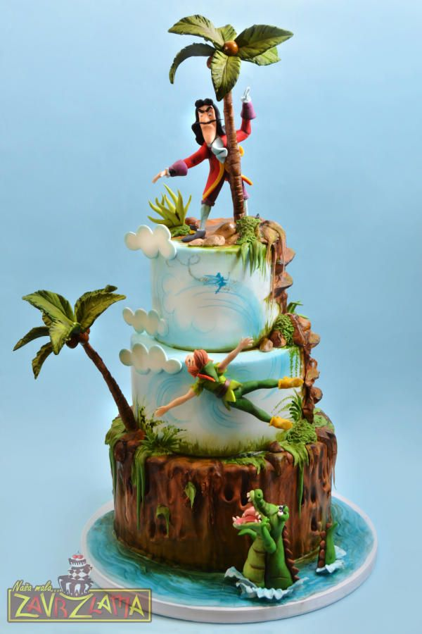 Peter Pan and Captain Hook Cake by Nasa Mala Zavrzlama | Cakes ...