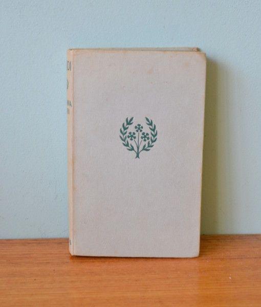Vintage  Book Heidi by Johanna Spyri