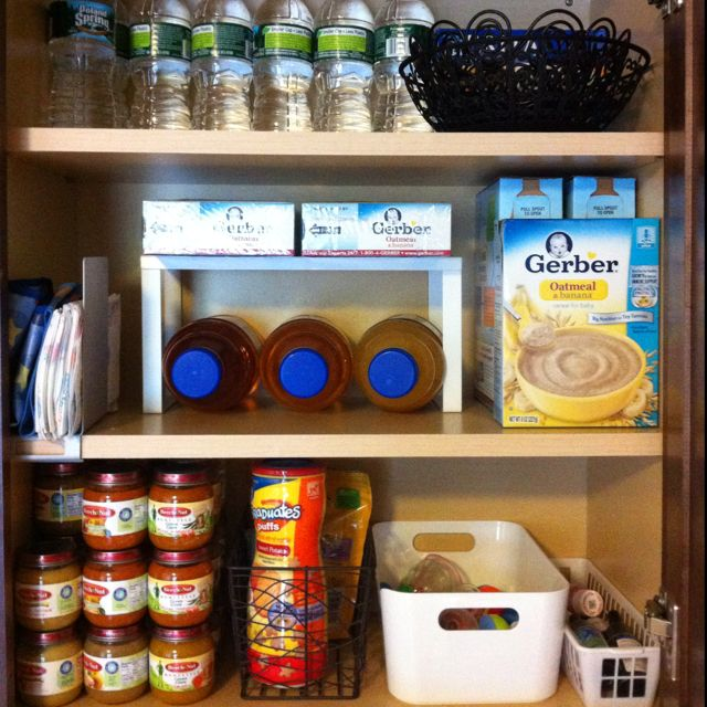 Kitchen Organization List: Organized Baby Cabinet