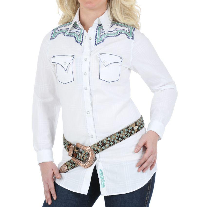Rock 47 by Wrangler Women's Long Sleeve Western Shirt