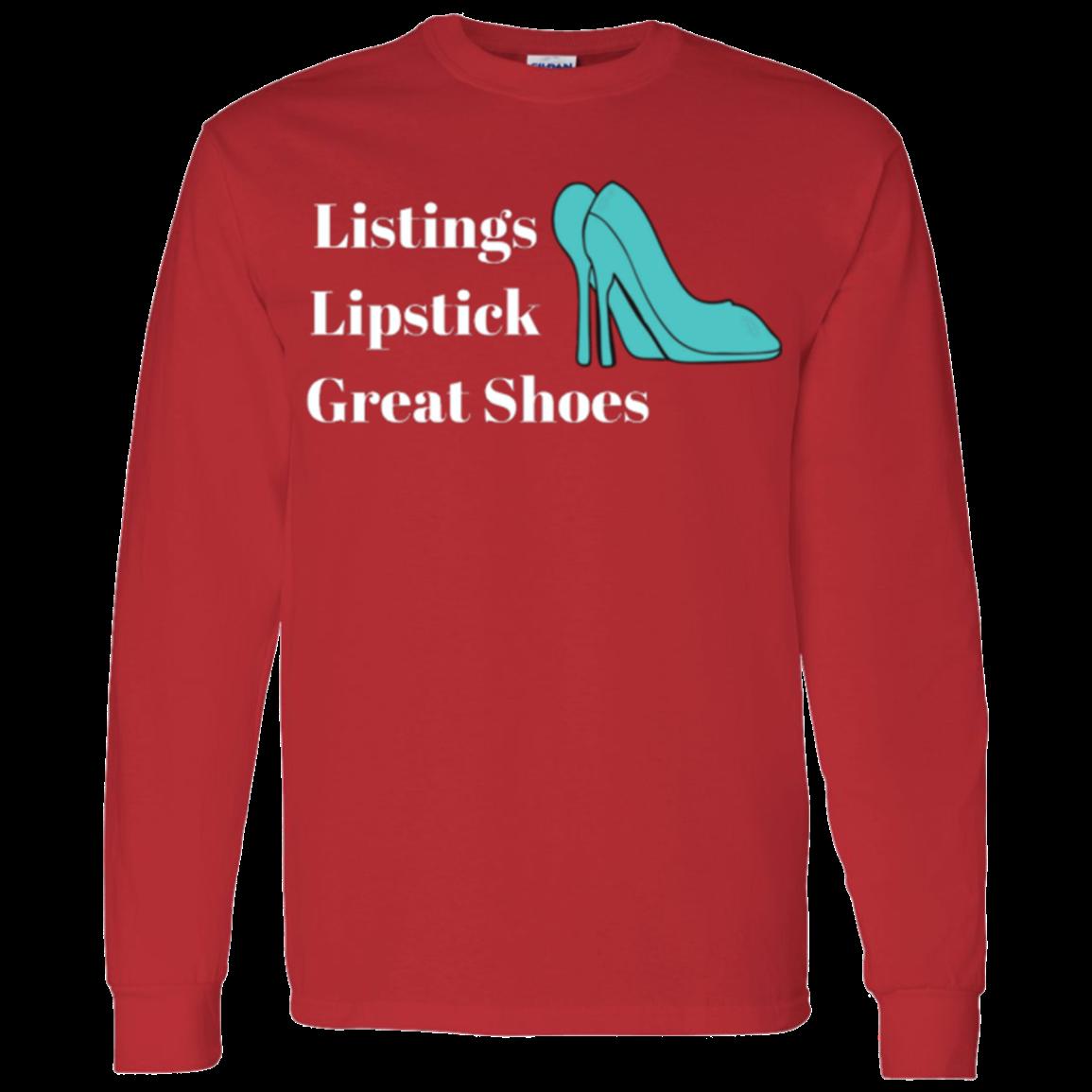 Listing, lipstick, teal shoes Unisex Basic Long Sleeve