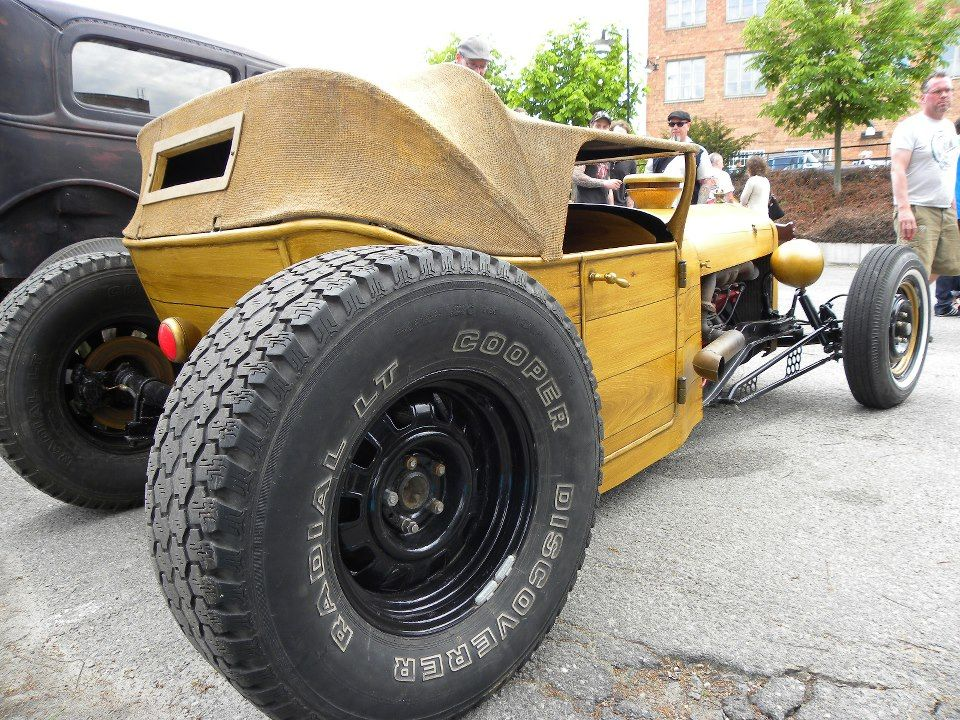 wood ratrod crazy style big wheel