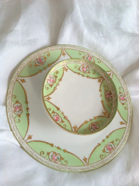 Hand Painted Nippon Two Tier Platter - Circa 1940's