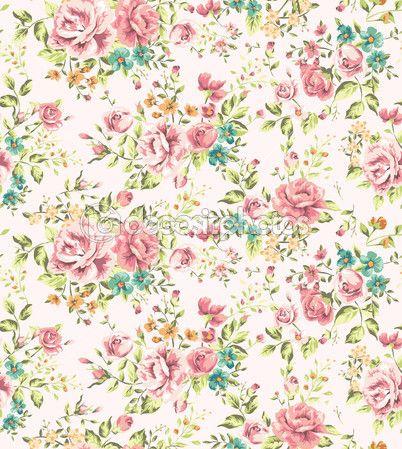 Classic Wallpaper Seamless Vintage Flower Pattern Vector Background Vintage Flowers Wallpaper Vintage Flowers Vintage Flower Backgrounds