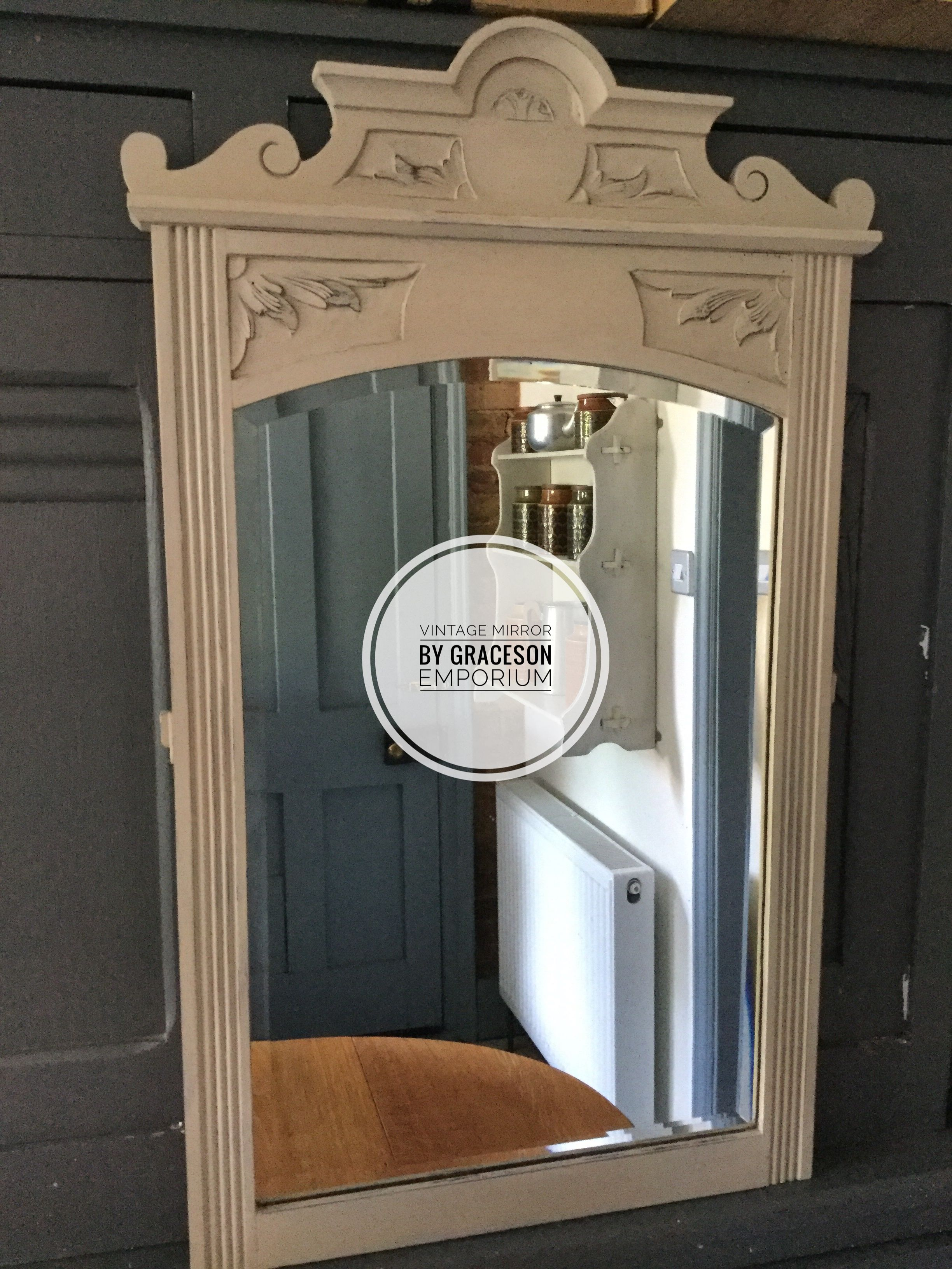 Mirror Painted With An Off White Chalk Paint By Annie Sloan Vintage Mirror