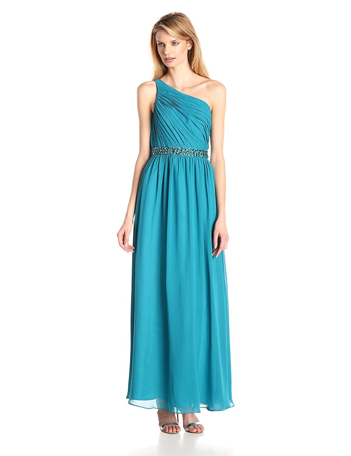 Hailey by Adrianna Papell Women\'s Long One Shoulder Gown ** Don\'t ...