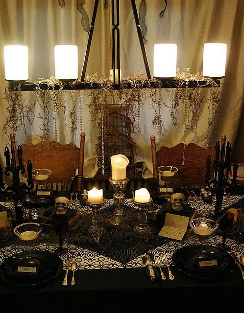 Decor Dark Dinning Halloween Party Dinner Halloween Tablescape Halloween Dinner