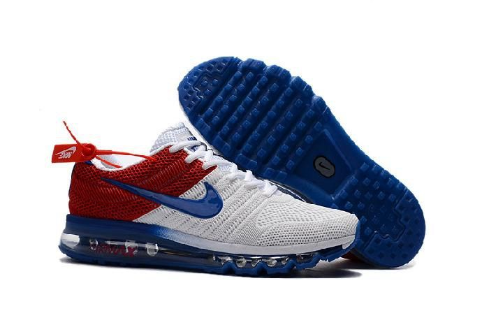 low priced 84f07 ec6f5 Nike Air Max 2017 Blue White Red Mens Sneaker