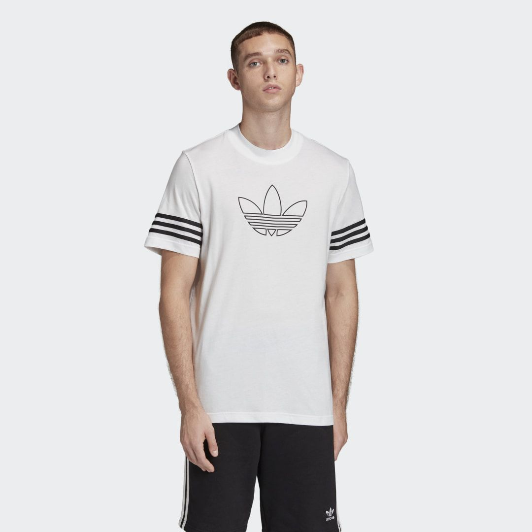 Outline T Shirt In 2020 T Shirt Mens Tees Adidas Co