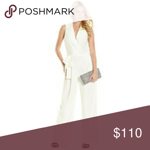 acaf80db98a5 Marciano White Tux Jumpsuit Perfect for business parties! Used only 2 times.  Marciano Pants
