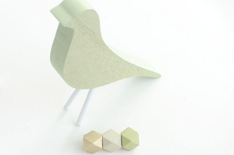 Holzperlen - Geometric Holzperlen Perlen handbemalt Geometrisch - ein Designerstück von FILZFORM bei DaWanda