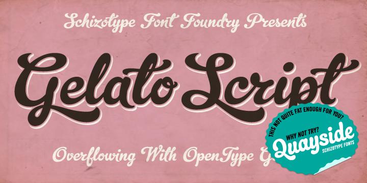 Gelato Script - Webfont & Desktop font « MyFonts
