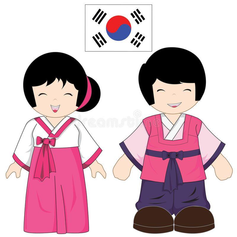 Traje Tradicional De La Corea Del Sur Imagen de archivo libre de ...
