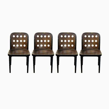 Vintage Stühle von Josef Hoffmann für Thonet Mundus, 4er Set Jetzt - stühle für die küche