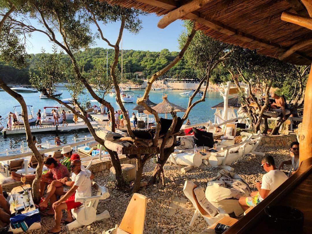 Croatia Drinking On The Top Of Olive Trees At Laganini Lounge Bar Palmizana Island Croatia Beach Croatia Vacation Croatia Tourism